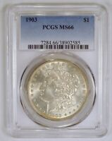 1903 MORGAN SILVER DOLLAR COIN GRADED MINT STATE 66 OR MINT STATE 66 BY PCGS
