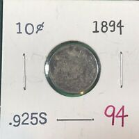 1894 10 CENT 1897 1919 5 CENT CANADIAN SILVER