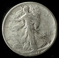 1918-P WALKING LIBERTY 90 SILVER HALF SHIPS FREE. BUY 5 FOR $2 OFF