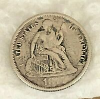 1875 LIBERTY SEATED SILVER DIME-FINE TO  FINE