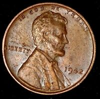 1942-P 1C LINCOLN WHEAT CENT UNC R/B 17SR0910-3 50 CENTS SHIPPING