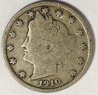 1910-P 5C LIBERTY HEAD NICKEL 17HW1712 50 CENTS SHIPPING
