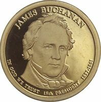 2010 S PRESIDENTIAL DOLLAR JAMES BUCHANAN GDC PROOF LRR 50 CENTS SHIPPING