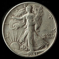 1941-S WALKING LIBERTY 90 SILVER HALF SHIPS FREE. BUY 5 FOR $2 OFF