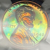 1942 LINCOLN NGC PF64 RB AWESOME GREEN TONING
