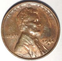 1944-S 1C LINCOLN WHEAT CENT UNC R/B 17RR3110-2 50 CENTS SHIPPING