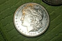 A614,MORGAN SILVER DOLLAR,1881-S VAM-60 DBL RIGHT STARS/RIGHT WREATH,R5,PL-DMPL