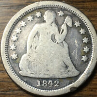 1842-O SEATED LIBERTY DIME, GOOD