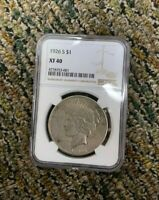 1926 S EXTRA FINE  40 PEACE DOLLAR NGC SLABBED AND GRADED