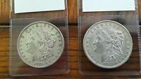 LOT OF 2 1921D THE ONLY DENVER MINTED MORGAN DOLLAR - 90 - LAST YEAR HISTORIC