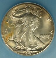 1941 WALKING LIBERTY HALF DOLLAR ICG MINT STATE 65-  EXCEPTIONAL TONE, EYE APPEAL