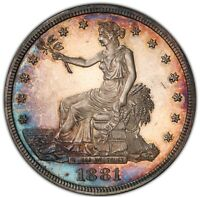 1881 TRADE DOLLAR $ PR64 NGC        PROOF ONLY COIN    UNDER