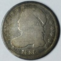 1836 10C CAPPED BUST DIME G UNCERTIFIED