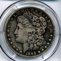 1895 S  KEY DATE MORGAN DOLLAR  PCGS VF 20 SECURE SOLID COIN AND GRADE -REDUCED