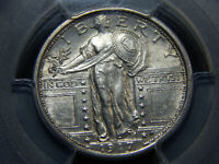 1917 25C TYPE 1 STANDING LIBERTY QUARTER MINT STATE 62FH PCGS, LOOKS HIGHER