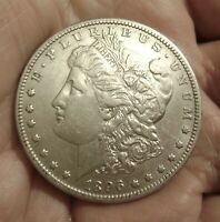 1896 0  MORGAN SILVER DOLLAR 90  U.S. MINT  COIN HIGH $$ IN RED BOOK