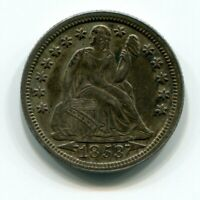 10C 1853 SEATED LIBERTY WITH ARROWS  - FULLY ORIGINAL AU