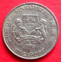 SINGAPORE  ASIA  COLLECTABLE VINTAGE 1990  TWENTY CENT COIN  IN A GOOD GRADE