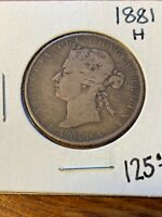 1881H CANADA 50 CENTS  BETTER DATE