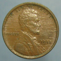 HEAVILY LAMINATED PLANCHET   BROWN AU 1918 LINCOLN CENT
