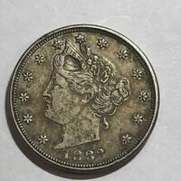 1883 'WITH CENTS' EXTRA FINE  LIBERTY V NICKEL LOT3 STRUCK THROUGH GREASE ERROR