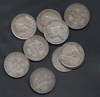 1904 19  NEWFOUNDLAND SILVER 50 CENTS   LOT OF 10