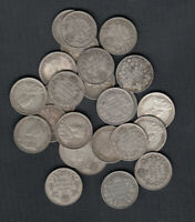 1911 36  CANADA SILVER 10 CENTS   LOT OF 25