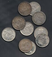 1936 CANADA SILVER DOLLARS   LOT OF 10