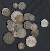 1800'S 1900'S  WORLD SILVER COINS   LOT OF 25