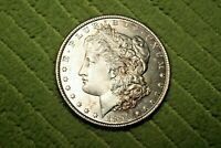 A461,SELDOM SEEN 1896-P VAM-22 DOUBLED EAR BU HIGH GRADE MORGAN SILVER DOLLAR,