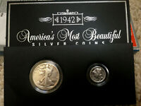 1942 WALKING LIBERTY AND MERCURY DIME