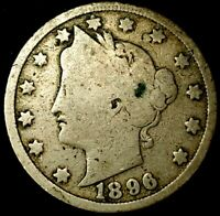 1896-P 5C LIBERTY HEAD NICKEL 20LCT0709 50 CENTS SHIPPING