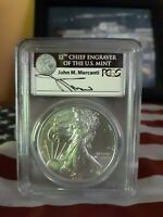 2011 W MERCANTI LABEL SILVER EAGLE PCGS MS70 FIRST STRIKE. STRUCK AT WEST POINT.