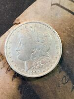 1891-P MORGAN SILVER DOLLAR OLD US COIN $1.00, NO RESERVE .