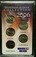 2006 P 25C FIVE STATE QUARTER COLLECTION COMMEMORATIVE SET