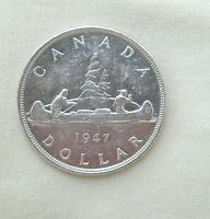 1947 CANADIAN SILVER DOLLAR  HIGH GRADE
