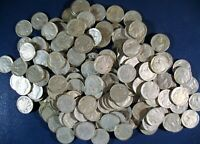 LOT OF 160 BUFFALO NICKELS  4 ROLLS OF MIXED DATE CIRC COINS