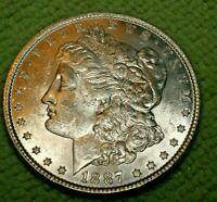 A900,MORGAN SILVER DOLLAR,1887 VAM 10 HIGH GRADE BU