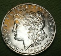 A963,MORGAN SILVER DOLLAR,1887 P VAM 1C,HIGH GRADE BU