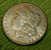A808,MORGAN SILVER DOLLAR,1900 P AU VAM 11  FILLED EAGLE EYENL