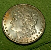 A916,SELDOM SEEN VAM 43,1899 O ,MORGAN SILVER DOLLAR,PL BU