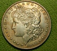A880,SELDOM SEEN ,1896 P VAM 32 MORGAN SILVER DOLLAR,BU R5
