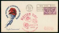 MAYFAIRSTAMPS US 1953 ST JOSEPH MI BLOSSOM TIME FIGHT COMMUN
