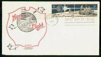 MAYFAIRSTAMPS 1971 US FDC MOON FLIGHT LAND ROVER ARTOPAGES F