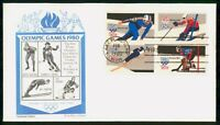 MAYFAIRSTAMPS 1980 US FDC OLYMPIC GAMES WINTER COMBO ARISTOC
