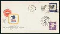 MAYFAIRSTAMPS 1971 US FDC 8 CENTS US MAIL LINCOLN NE FIRST D