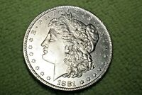 A933,SELDOM SEEN HIGH GRADE 1881 O VAM 23 BU,MORGAN SILVER DOLLAR,