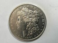 1891 P MORGAN SILVER DOLLAR DATE AU FROM ALBUM COLLECTION AU CONDITION M15