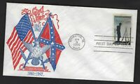 US FDC 1182 FORT SUMTER  M11 ABC ENVELOPE