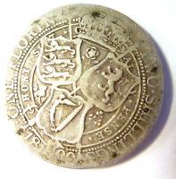 GB QUEEN VICTORIA 1899 ONE FLORIN STERLING SILVER GOOD CONDI